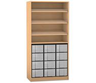 Flexeo Regal, 3 Schrägablagen, 1 Ablageboden 12 große Boxen, HxB: 190 x 94,4 cm