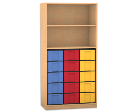Flexeo Regal 2 Faecher 15 grosse Boxen HxB 190 x 944 cm