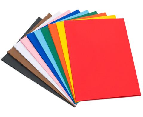 100 Bogen Fotokarton 50 x 70 cm in 10 Farbtoenen 300 g-m