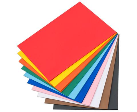 100 Bogen Fotokarton 50 x 70 cm in 10 Farbtoenen 300 g-m-2