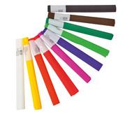 10 Rollen Krepp- Papier, farbig sortiert