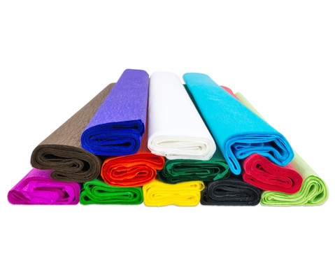 Krepp-Papier 10 Rollen in einer Farbe-1