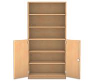 Flexeo Halbtürenschrank, 2 Drehtüren, 5 Fachböden HxBxT: 190 x 94,4 cm