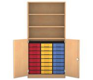 Flexeo Halbtürenschrank, 2 Drehtüren, 3 Fachböden 24 kleine Boxen, HxBxT: 190 x 94,4 cm