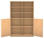 Flexeo Halbtürenschrank, 2 Drehtüren, 8 Fachböden mit Mittelwand, HxBxT: 190 x 126,4 cm