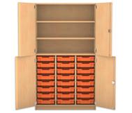 Flexeo Halbtürenschrank mit 24 kleinen Boxen, oben 2 Fachböden, 4 Türen, HxB: 190 x 108,1 cm