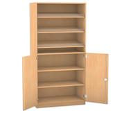 Flexeo Schrank, 3 Schrägablagen, 1 Ablageboden unten 2 Drehtrüren, HxB: 190 x 94,4 cm