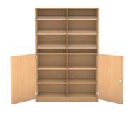 Flexeo Schrank, 6 Schrägablagen, 6 Ablageböden unten 2 Drehtüren, HxB: 190 x 126,4 cm