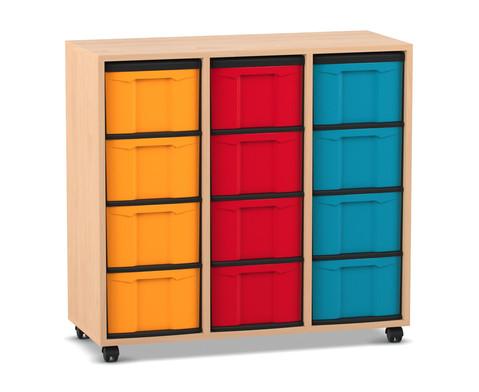 Flexeo Regal 3 Reihen 12 grosse Boxen