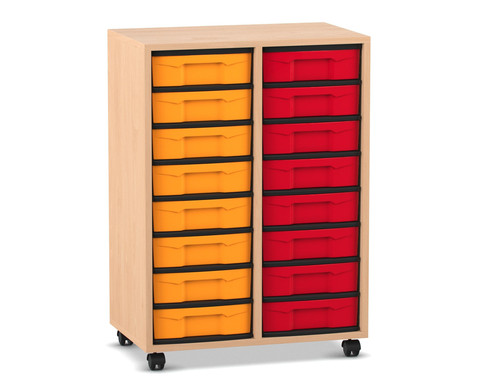 Flexeo Regal 2 Reihen 16 kleine Boxen HxBxT 923 x 665 x 408 cm