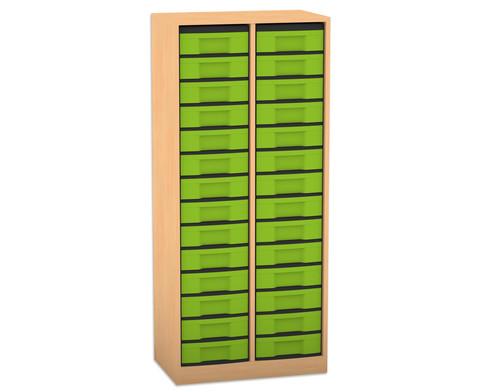 Flexeo Regal 2 Reihen 28 kleine Boxen HxBxT 1518 x 665 x 408 cm