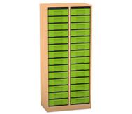 Flexeo Regal, 2 Reihen, 28 kleine Boxen HxBxT: 151,8 x 66,5 x 40,8 cm