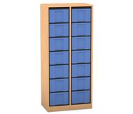 Flexeo Regal, 2 Reihen, 14 große Boxen HxBxT: 151,8 x 66,5 x 40,8 cm