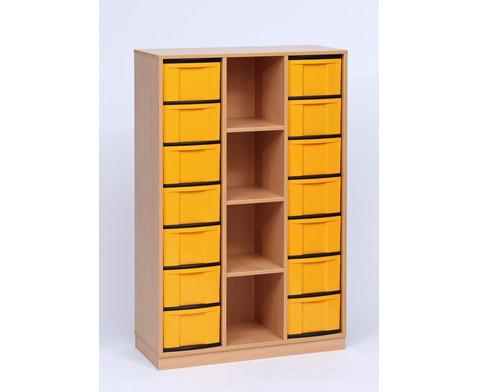 flexeo regal 3 reihen 4 f cher 14 gro e boxen hxbxt 151 8 x 98 6 x 40 8 cm. Black Bedroom Furniture Sets. Home Design Ideas