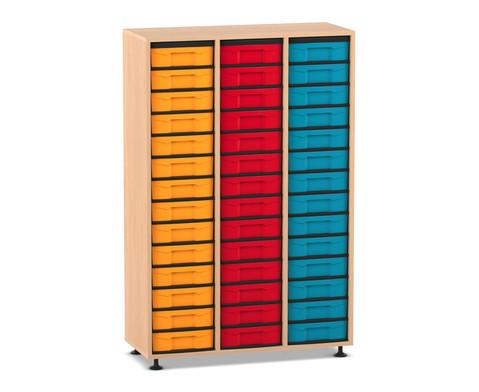 Flexeo Regal 3 Reihen 42 kleine Boxen
