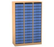 Flexeo Regal, 3 Reihen, 42 kleine Boxen HxBxT: 151,8 x 98,6 x 40,8 cm