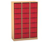 Flexeo Regal, 3 Reihen, 21 große Boxen HxBxT: 151,8 x 98,6 x 40,8 cm
