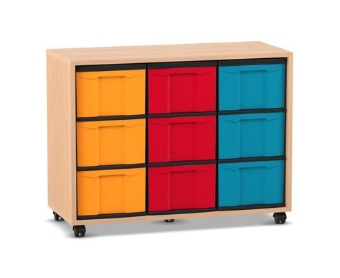 Flexeo Regal mit 9 grossen Boxen