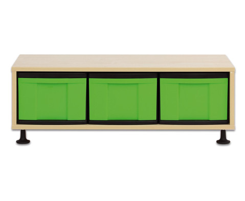 Flexeo Regal mit 3 grossen Boxen HxBxT 332 x 948 x 408 cm