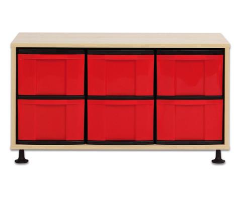 Flexeo Regal mit 6 grossen Boxen HxBxT 530 x 948 x 408 cm