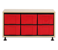 Flexeo Regal mit 6 großen Boxen HxBxT: 53,0 x 94,8 x 40,8 cm