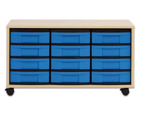 flexeo regal mit 12 kleinen boxen hxbxt 53 0 x 94 8 x 40 8 cm. Black Bedroom Furniture Sets. Home Design Ideas