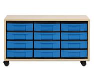 Flexeo Regal mit 12 kleinen Boxen HxBxT: 53,0 x 94,8 x 40,8 cm