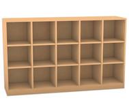 Flexeo Regal, 5 Reihen, 15 Fächer HxBxT: 98 x 162,8 x 40,8 cm