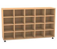 Flexeo Regal, 5 Reihen, 20 Fächer HxBxT: 98 x 162,8 x 40,8 cm