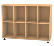 Flexeo Regal, 4 Reihen, 8 Fächer HxBxT: 98 x 130,7 x 40,8 cm