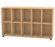 Flexeo Regal, 5 Reihen, 10 Fächer HxBxT: 98 x 162,8 x 40,8 cm