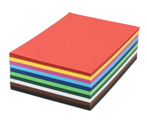 500 Blatt DIN A4 Tonkarton 160 g-m in 10 Farben