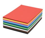 Tonzeichenkarton,500 Blatt, DIN A4, 160 g/m² in 10 Farben