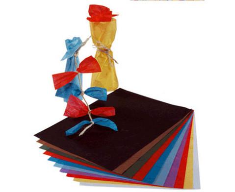 Faserseide 10 Bogen in 10 Farben sortiert-2