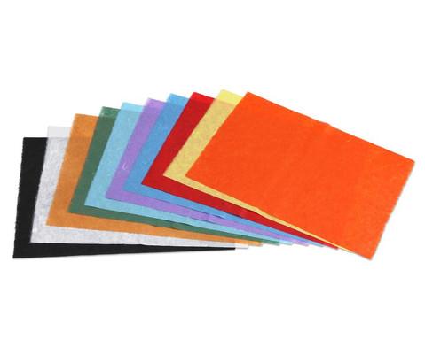 Faserseide 10 Bogen in 10 Farben sortiert-1
