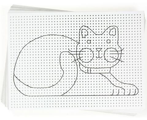 Stickkarton 40 Blatt weiss bedruckt-2