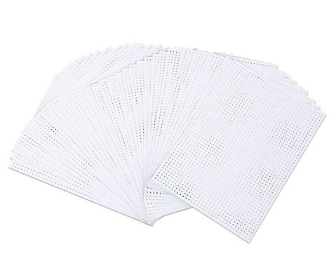 edumero Stickkarton, 40 Blatt, weiß, bedruckt