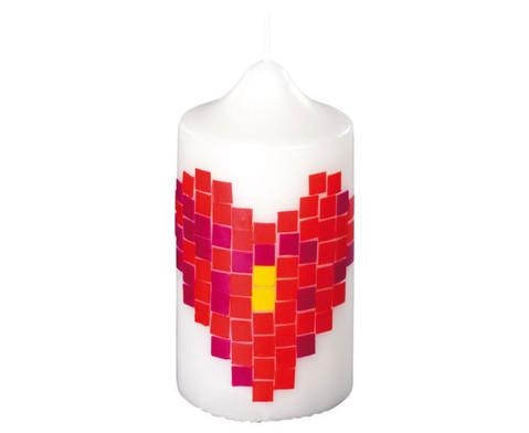 Weisse Kerze 215 x  7 cm-2
