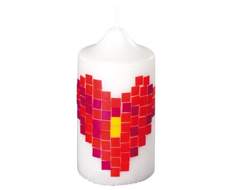 Weisse Kerze 215 x  7 cm-1