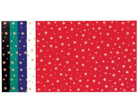 10 Bogen Sternchen-Fotokarton 300 g-m in 5 Farben sortiert
