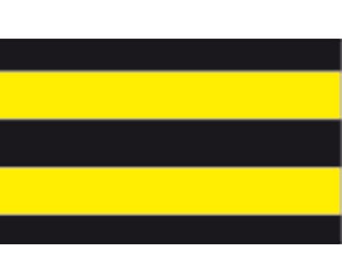 10 Bogen Streifen-Fotokarton 50 x 70 cm in gelb-schwarz-4
