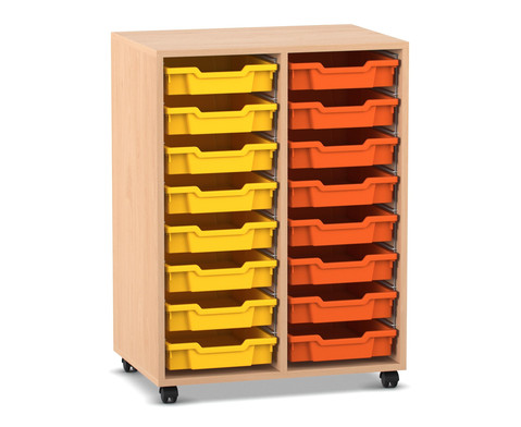 Flexeo Regal PRO mit 2 Reihen und 16 Boxen Gr S