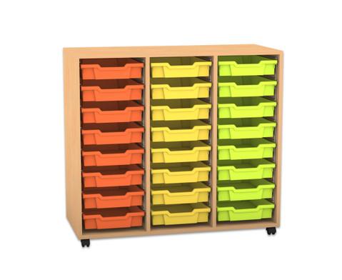Flexeo Regal PRO mit 3 Reihen und 24 kleinen Boxen-1