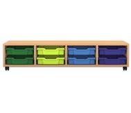 Flexeo Regal PRO, 4, 8 kleine Boxen