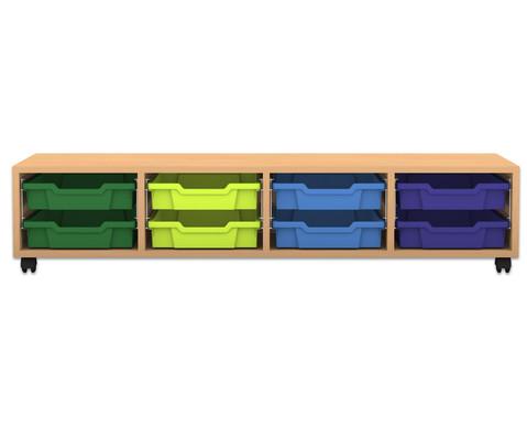 Flexeo Regal PRO 4 8 kleine Boxen HxBxT 319 x 1439 x 48 cm
