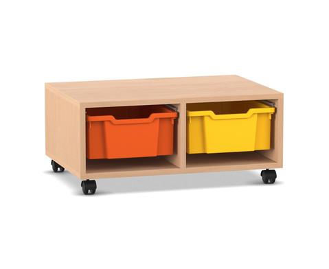 Flexeo Regal PRO 2 Reihen 2 grosse Boxen