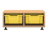Flexeo Regal PRO, 2 Reihen, 2 große Boxen