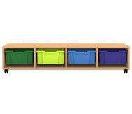 Flexeo Regal PRO mit 4 Reihen und 4 großen Boxen