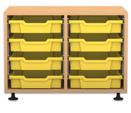 Flexeo Regal PRO, 2 Reihen, 8 kleine Boxen, HxBxT: 54,7 x 73,1 x 48 cm