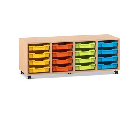 Flexeo Regal PRO mit 4 Reihen und 16 Boxen Gr S